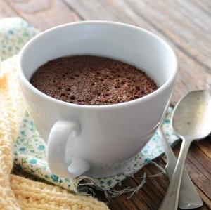 The gorgeous 5-min healthy chocolate mug cake, image courtesy of An Edible Mosaic.