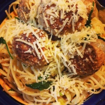 Pork and fennel meatballs - delicious comfort food. Great on sourdough rolls the next day too!
