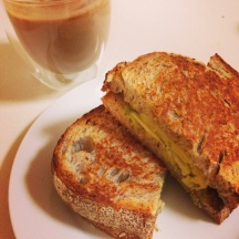 The incredible cheese and avocado sourdough toastie. Try it for breakfast!