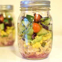 Jar Salad Chicken Tacos