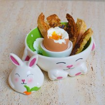 Soft-boiled eggs and soldiers