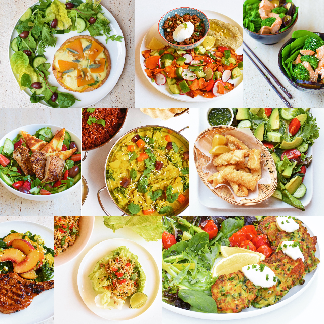 Collage of IQS meals
