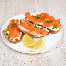 Smoked Salmon with Cream Cheese on Sourdough