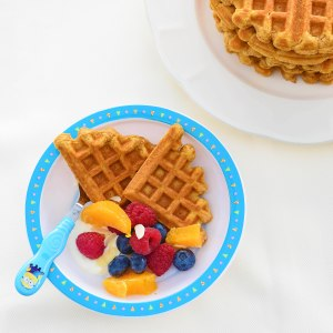 My boys love the waffles with yoghurt and fruit!