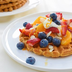Sweet version of sweet potato waffles