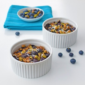 Miss Marzipan's delicious and healthy Blueberry Muffin Baked Porridge Pots