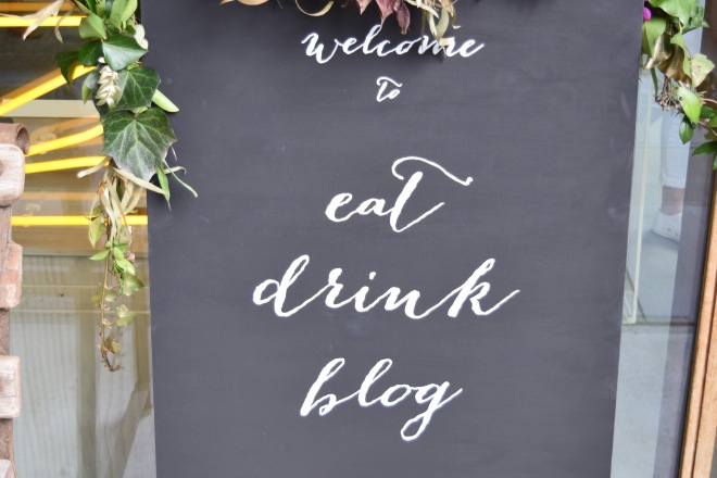 Eat Drink Blog Sign