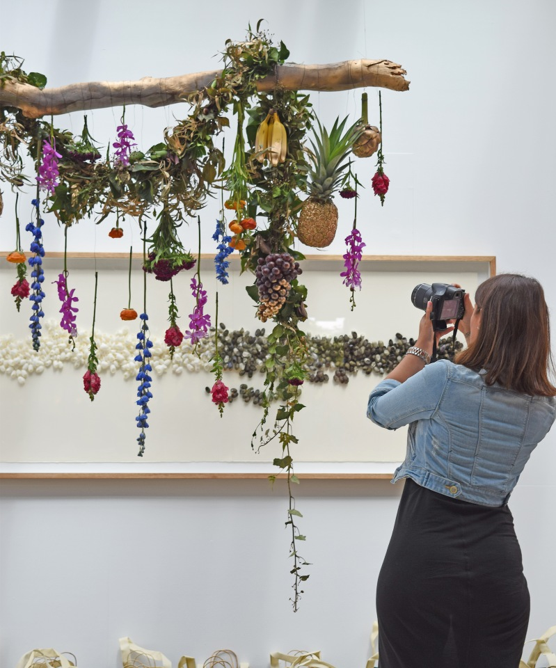 Flower arrangement at Nishi Gallery
