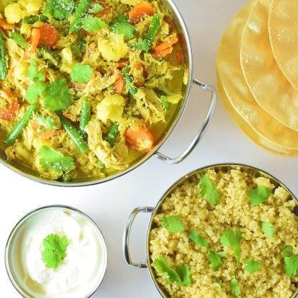 yellow roast chicken curry
