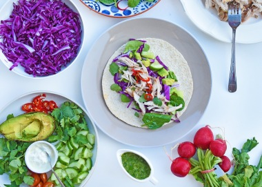 Jerk Chicken Tacos with Lemony Gremolata