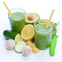 ginger-spiced green smoothie