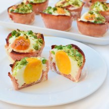 bacon and egg 'cupcakes'