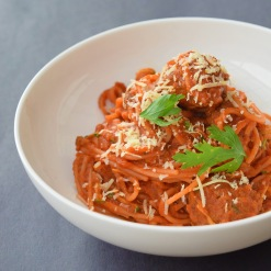 One Pot Spaghetti and Meatballs from Simplicious