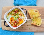 A smashing shakshuka breakfast