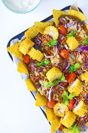 Family-sized Sweet Potato Nachos from Simplicious