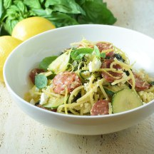 Zesty lemon ricotta pasta with chorizo