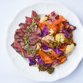 Steak and Five Veg from Simplicious