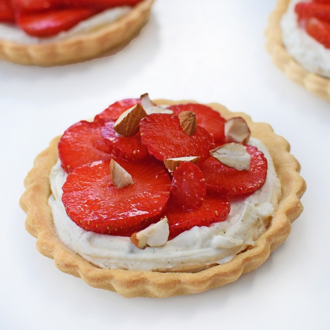 Photo of single strawberry tart