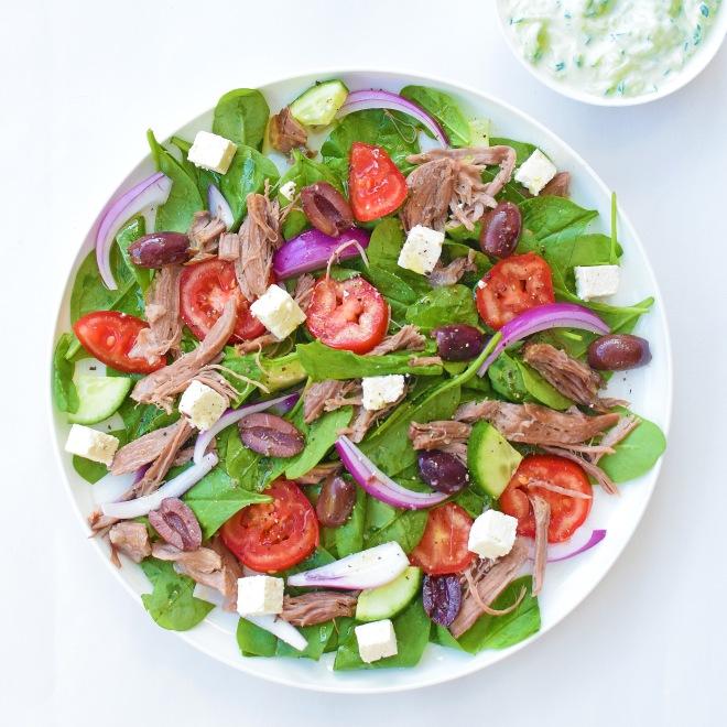 Greek Lamb Salad from Simplicious (p 220-221)