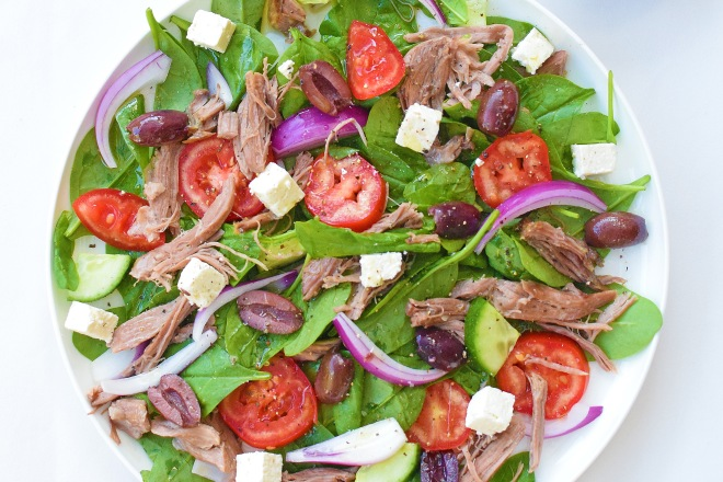Greek Lamb Salad from Simplicious (p 220-221)