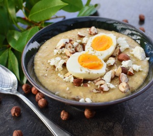 Mushroom, Thyme and Hazelnut Porridge from Simplicious
