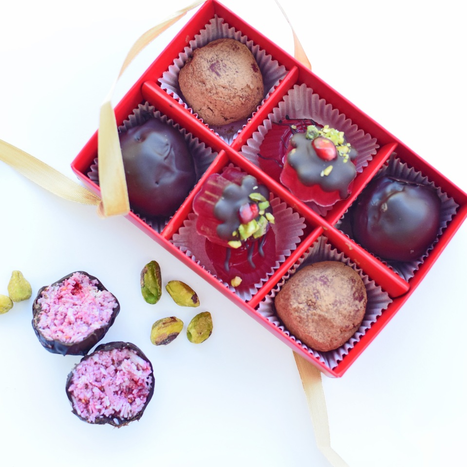 Choc-Beet Allspice Truffles, Raspberry Ripe Bites and Turkish Delightfuls from Simplicious