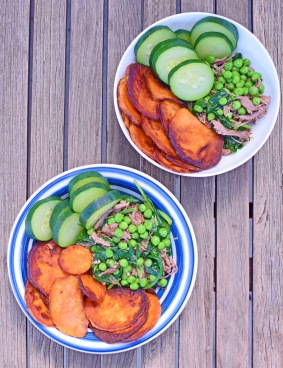 Vata Balancing Bowls with Sweet Potato Chips with Simplicious