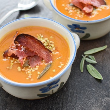 Sweet Potato, Miso and Sage Soup, from Simplicious