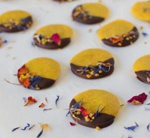 Turmeric Buttons, recipe from Sarah at Sugarlumps
