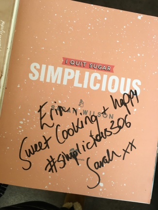 An autograph in my well-loved cookbook