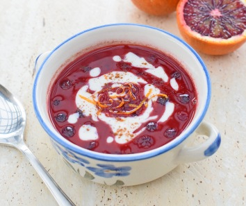 Buttered Blueberry and Blood Orange Soup from Simplicious
