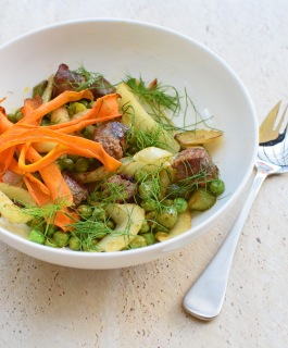 Sausage and Fennel Lunch Bowl with Carrot Bacon from Simplicious
