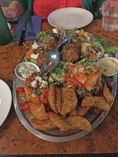 A vegetarian platter for two from The Cyprus Tree