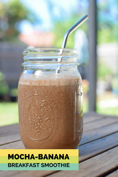 Mocha Banana Breakfast Smoothie